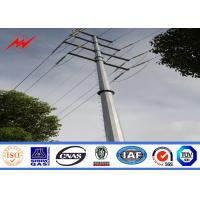 Wholesale 15m 1200Dan Electrical Galvanized Steel Pole For Outside Distribution Line from china suppliers