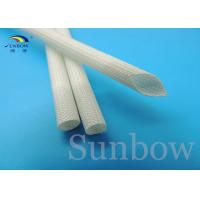 Wholesale 7 mm Silicon Fiberglass Insulated Tube Braided Fiberglass Sleeve UL VW-1 200 ℃ White from china suppliers