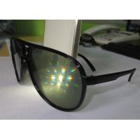 Wholesale Black Plastic Diffraction Glasses , 13500 Lines Emerald Firework Glasses from china suppliers