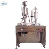 China 35 - 65 Mm Bottle Height Bottled Water Filling And Capping Machine Inhaler Aerosol Filling Machine on sale
