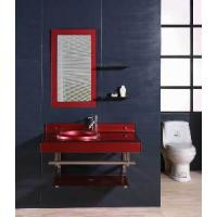Wholesale Red Color Glass Cabinet Bathroom Vanity (5156) from china suppliers