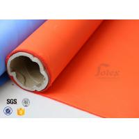 Wholesale Orange Acrylic Coated Fibreglass Fabric 8.3oz 39 Inches Heat Resistant from china suppliers