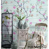 Wholesale Embossed Vinyl Wallpaper Flowers And Birds Soil Case Classic Style from china suppliers