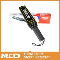 Wholesale Black Hand Held Metal Scanner / Portable Wand Metal Detector With Headphone Output from china suppliers