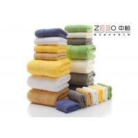 Wholesale Comfortable Hotel Hand Towels 100 Cotton White / Green / Pink / Blue Color from china suppliers
