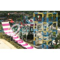 Wholesale 304 Stainless Steel Fiberglass Water Slides High Capacity 13m Platform Height / Aqua Park from china suppliers