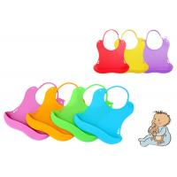Wholesale Customized Silicone Baby Bibs With Adjustable Secure Strap , Easy Cleaning from china suppliers