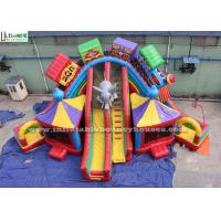 Wholesale Funny Circus City Train Inflatable Slide Lead Free PVC Tarpaulin Bounce House Slides from china suppliers