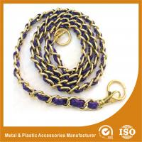 Wholesale Customized Gold Copper Handbag Metal Chain With Leather Eco Friendly from china suppliers