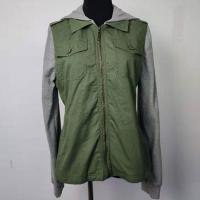 China Anti Shrink Hooded Ladies Short Coat Comfortable With Knitted Sleeves on sale