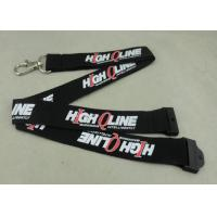 Wholesale Customized Logo Neck Id Card Lanyard , Metal Hook Lanyard For Meeting name badge lanyards from china suppliers