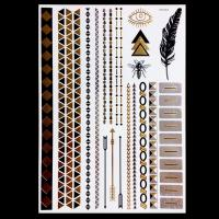 Wholesale OEM Service Gold Foil Metallic Tattoo Stickers Temporary Semi Permanent from china suppliers