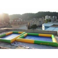 Wholesale Colored Rectangular Kids Inflatable Pool for Water Park Games Using from china suppliers
