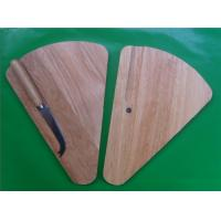 Triangle shape wooden cheese board with S/S knife for sale
