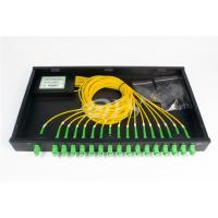 Wholesale SC/APC 1*16 PLC Optical Fiber Splitter Rack Mount Box Low Excess Loss from china suppliers