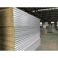Wholesale Colour Coated Steel Rock Wool Sandwich Panel Roofing Sheets Fire Protection Rating A1 from china suppliers