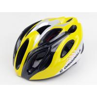 Wholesale Cycling XL Sports Adult Bicycle Helmets Yellow With Carbon Reinforcement from china suppliers