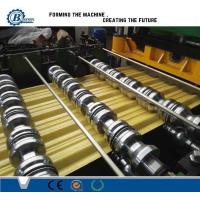 Wholesale Aluminium Zinc Coated Steel Roof Roll Forming Machine , Glazed Steel Tile Roll Forming Machine from china suppliers