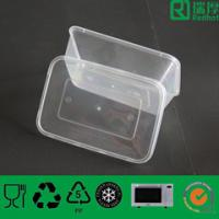 Quality plastic rectangular takeaway food container for sale