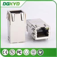 Wholesale 33mm Right Angle POE RJ45 Shielded Connector with Transformer LEDS Tab-Up OEM from china suppliers