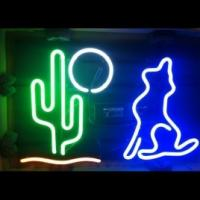 "Wholesale Professional Indoor Liquor Cactus Moon Wolf Neon Bar Sign 32"" x 20"" x 4"" from china suppliers"