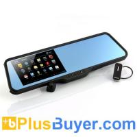 Wholesale Shift - Android Rear View Mirror with Dash Cam + DVR (5 Inch Touchscreen, GPS, Bluetooth Headset) from china suppliers