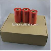 Buy cheap Premium high quality printer ribbon type red wax resin thermal transfer ink ribbon from wholesalers