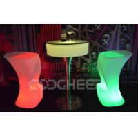 Wholesale Lighted Round Illuminated Cocktail Table Led Bar Furniture With Led Lights from china suppliers