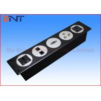 Wholesale Black Changeable Multimedia Wall Socket , 5 Circles Media Wall Outlet from china suppliers