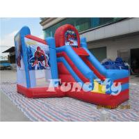 Wholesale Spiderman Size 7.5*4.5*4M 0.55mm PVC Tarpaulin Inflatable Water Trampoline Combo Bouncer from china suppliers