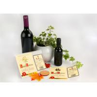 Wholesale Spirit Glass Bottle Wine Sticker Labels / Gold Embossed Stickers Printing from china suppliers