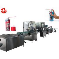 Wholesale Auto Aerosol Filling Line For Wax Board Spray , Aerosol Can Filling Machine Suppliers from china suppliers
