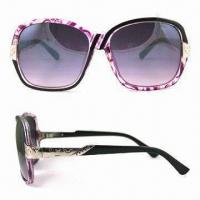 Wholesale Women's sunglasses with metal accessories and colorful patterns from china suppliers