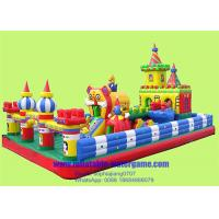 Wholesale Custom 18oz PVC Inflatable Fun City , Childrens Bouncy Castle With Slide from china suppliers