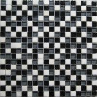 Wholesale Black White Glossy Marble Stone And Glass Mosaic Tile For Interior Wall from china suppliers