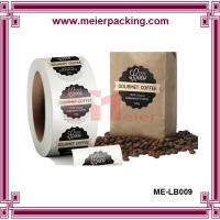 China Oval label sticker for coffee bag/Transparent PP brand label sticker ME-LB009 on sale