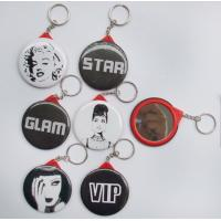Wholesale Tinplate mirror with keychain,  mini keychain mirror from china suppliers