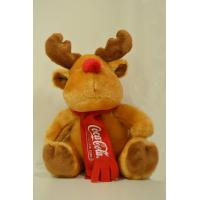Wholesale Promotional Moose Plush Toy Coca Cola Christmas Reindeer Stuffed Animal from china suppliers