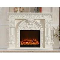 Wholesale 750w - 1500w Imitation Marble Electric Fireplace White Electric Indoor Fireplaces from china suppliers