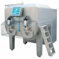 Wholesale 1500 Liter Vacuum Meat Mixer Machine Dual - Shaft With Pneumatic Discharge from china suppliers