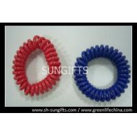 Wholesale Solid red/blue wrist coil, plastic spring coil, POP coils from china suppliers