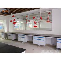 Buy cheap Durable Customized  Modular Chemistry Lab Wall Bench With Full Steel  Structure from wholesalers