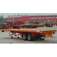 Wholesale 3 Axle Flatbed Tractor Trailer Container Semi Trailer With Container Lock from china suppliers