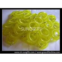 Wholesale Transparent yellow wrist key coils, wrist coil key holder, flexible plastic worm loops from china suppliers