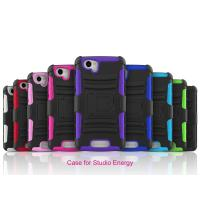 Wholesale Blu Studio Energy D810 Plastic Hard cell phone cases with stand function from china suppliers