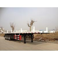 Buy cheap 13000 mm Length Flatbed Semi Trailers / Container Trailer Mechanical Suspension from wholesalers