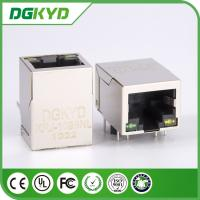 Wholesale Side Entry 8 Pin 100 BASE RJ45 Ethernet Jack Female Ethernet Connector with LED,  EMI from china suppliers