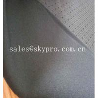 Quality 4mm Black Skid Proof Breathable Perforated Nylon Fabric Single Side Polyester Knitted for sale