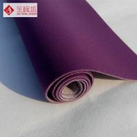 Wholesale Luxury Flocked Velvet Upholstery Fabric Purple With Long Pile , Soft Plush from china suppliers