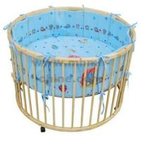 Wholesale Round Baby Playpen with Cotton Fabric furniture from china suppliers